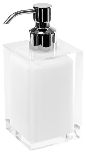 Free Standing Soap Dispenser, White contemporary-bath-and-spa-accessories