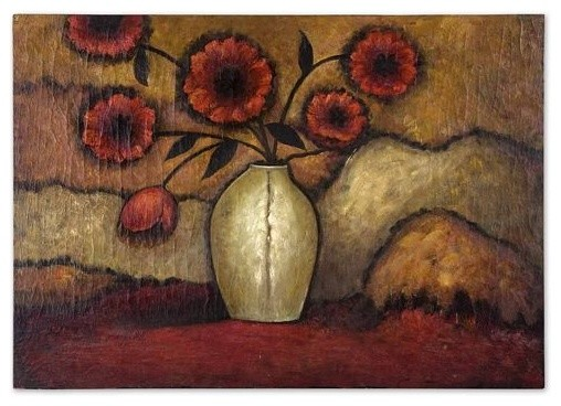 Uttermost Red Poppies traditional-artwork