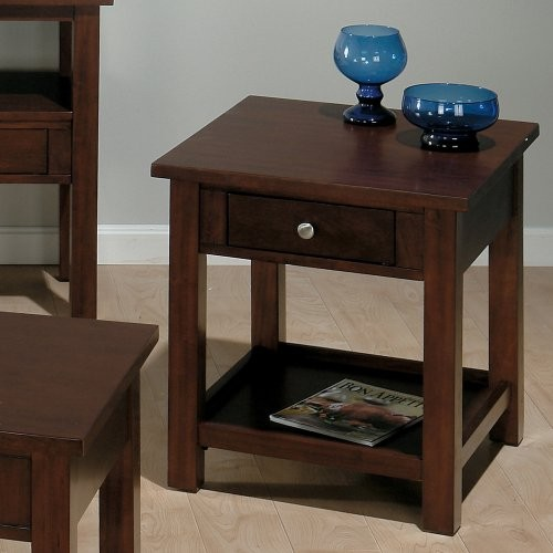 Jofran Small Space Milton Cherry End Table traditional-side-tables-and-end-tables