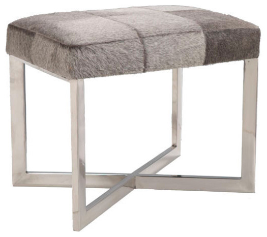Crosshair Hide Stool modern ottomans and cubes