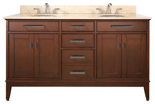 60 vanity combo tobacco black granite top