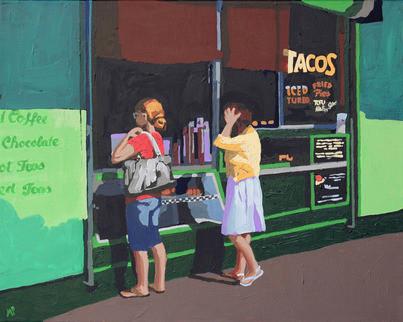 """Taco Stand"" (Original) By Melinda Patrick contemporary-paintings"