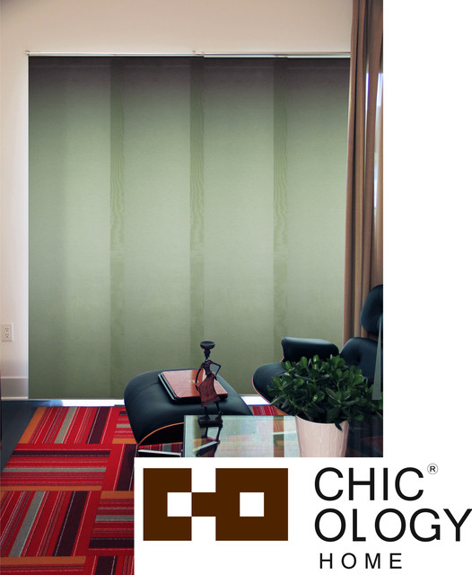 Chicology  Cucumber Cordless 4 Panel System Alps Blinds contemporary-interior-doors