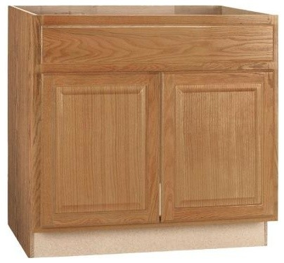 ... 5x24 in. Sink Base Cabinet in Medium Oak contemporary-kitchen-cabinets