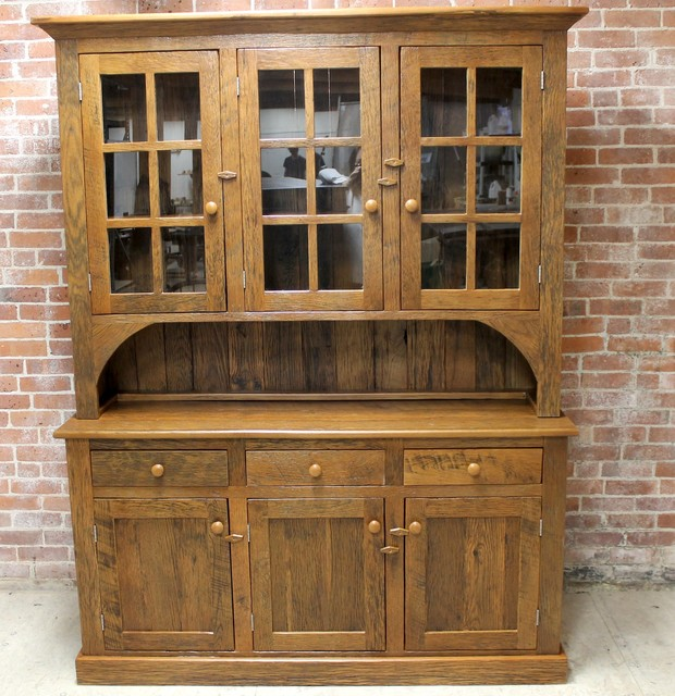 Large Reclaimed Wood Hutch - Farmhouse - China Cabinets And Hutches - boston - by ...