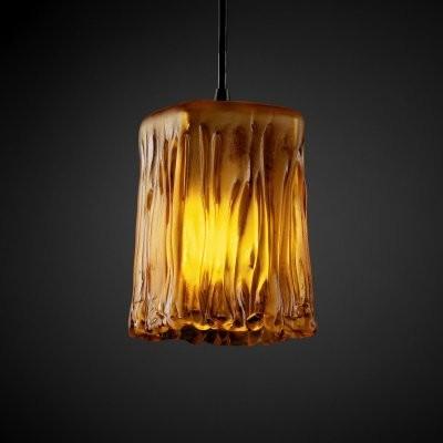 Justice Design Group Veneto Luce GLA-8816-26-AMBR-DBRZ Small 1-Light Pendant - D modern-ceiling-lighting