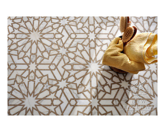 Stone Mosaic - Castilla mosaic is  inspired by the patterns and textures  of the  Mediterranean and Spanish Colonial architecture and interiors.