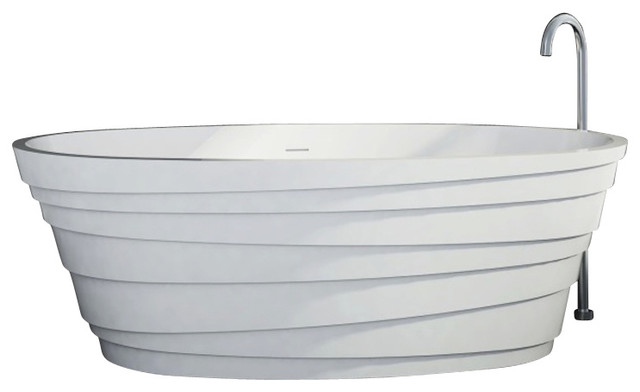 Stand Alone Bathtubs : ... Stand Alone Solid Surface Stone Resin Bathtub, Matte modern-bathtubs