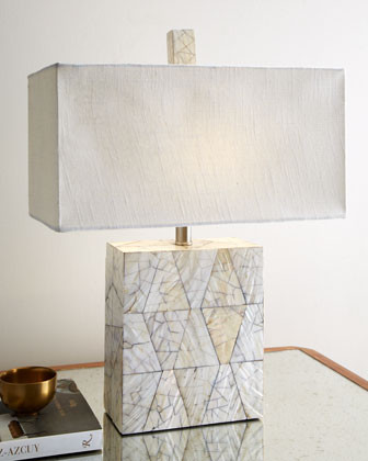 Crackled Mother Of Pearl Lamp