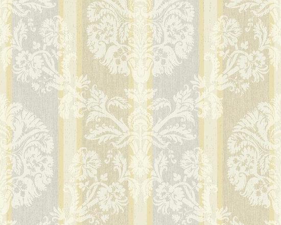 Washed Woven Damask Stripe Vibe Wallpaper -