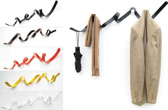 Ribbon Hanger eclectic-wall-hooks
