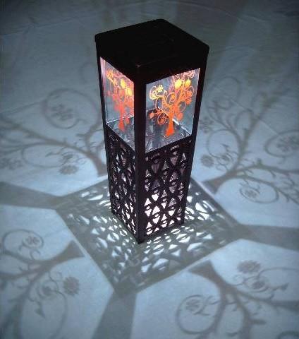 Shadows and Light Tree of Life Solar LED Lantern traditional-outdoor-lighting