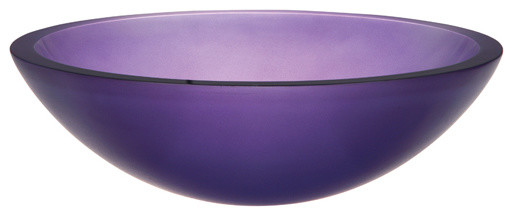 Decolav Frosted Violet Glass Vessel contemporary-bathroom-sinks