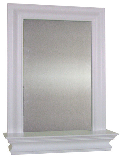 Kingston Wall Mirror With Shelf Contemporary Bathroom Mirrors By