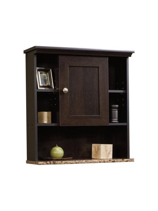 Sauder - Sauder Peppercorn Wall Cabinet in Cinnamon Cherry - Sauder - Bathroom Cabinets - 414059 -