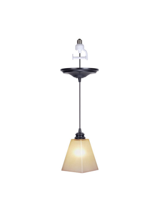Del Mar Instant Pendant Light - Revive outdated recessed lighting with the Del Mar Instant Pendant Light -- it's as easily as changing a light bulb!