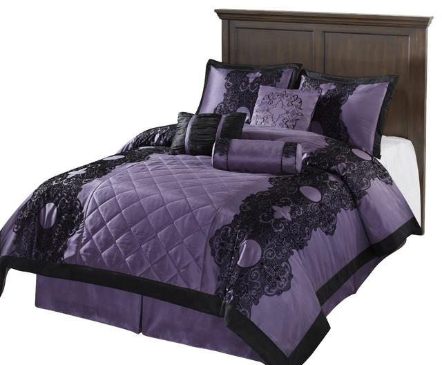 Victoria Down Alternative Comforter Set Purple