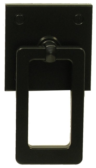 Modern Gate Latch with Rectangular Ring modern-cabinet-and-drawer-handle-pulls