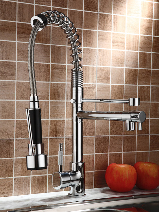 ProfessionalSink Mixer Kitchen Faucet With Pull Out Spray 0323 - Features: