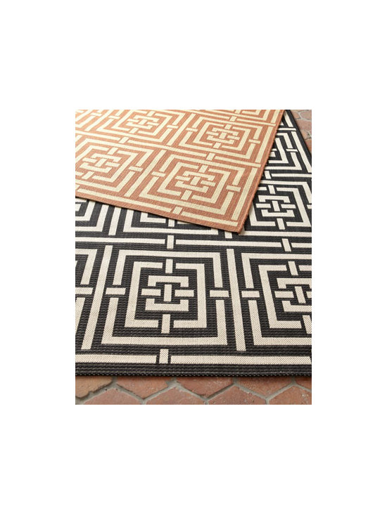 "Safavieh - Safavieh ""Square Graphic"" Rug, 5'3"" x 7'7"" - We love the graphic look of this indoor/outdoor rug's intersecting-squares design. Select color when ordering. Made of polypropylene. Size is approximate. Imported."
