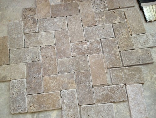 what color grout for a high v travertine floor