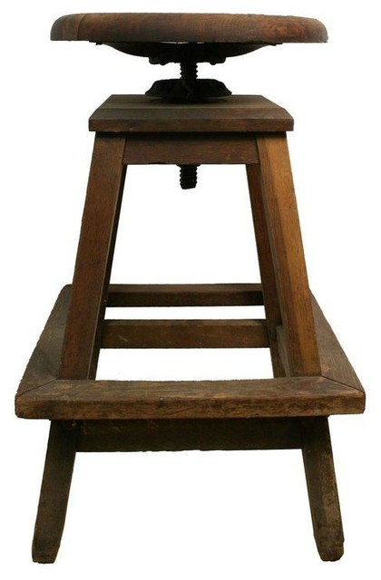 Used Industrial Rustic Wooden Stool Rustic Bar Stools