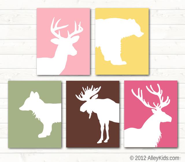 Nursery art Woodland animal theme nursery-decor
