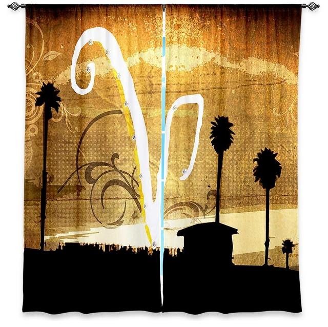 Window Curtains Lined by Corina Bakke V Beach contemporary-curtains