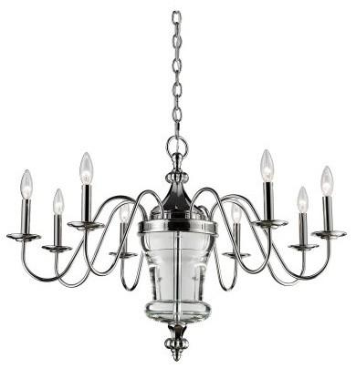 ELK Lighting Bensley 44001/8 Chandelier - Polished Nickel - 34W in. modern-chandeliers