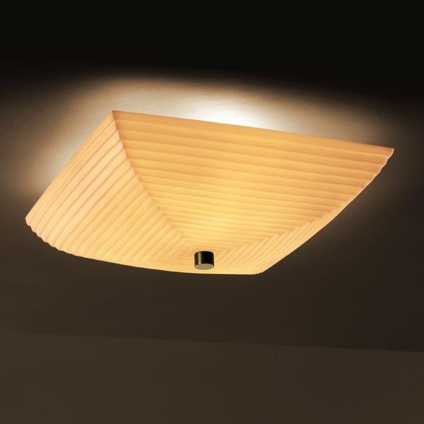 "Justice Design PNA-9672-25-SAWT-MBLK 24"" Semi-Flush Bowl w/ Fluorescent Lamping ceiling-lighting"