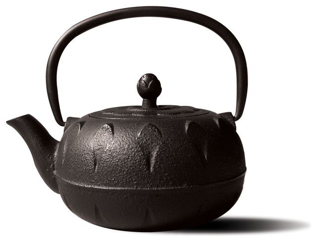 Matte Black Cast Iron Chubu Teapot - Asian - Teapots - by Old Dutch International