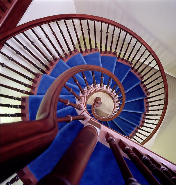 Cherry Spiral Staircase contemporary-staircase
