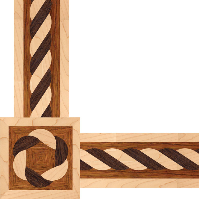 Oshkosh designs mariah inlay border and corners for Hardwood floor designs borders