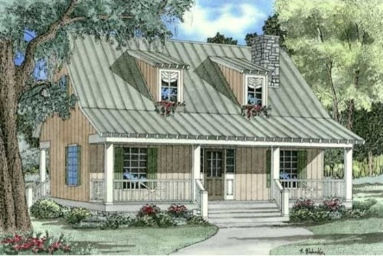 House Plan 17-2019 farmhouse-rendering