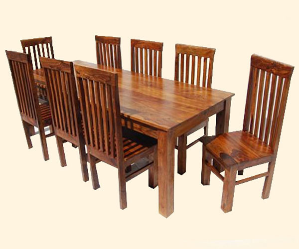 Classic Lincoln Study 9pc Dining Table and Chair Set contemporary