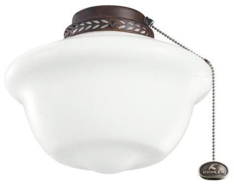 Kichler Lighting - 380065TZ - School House - One Light Ceiling Fan Kit ceiling-fans