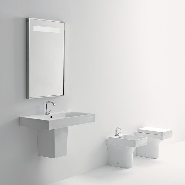 pedestal bathroom sink contemporary bathroom sinks by modobath