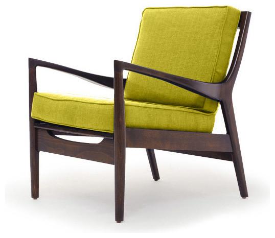 Roosevelt Mid Century Modern Chair - Klein Wheatgrass Green - Midcentury - Armchairs And Accent ...
