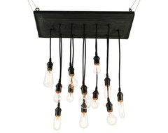Reclaimed Barn Tin Chandy industrial-chandeliers