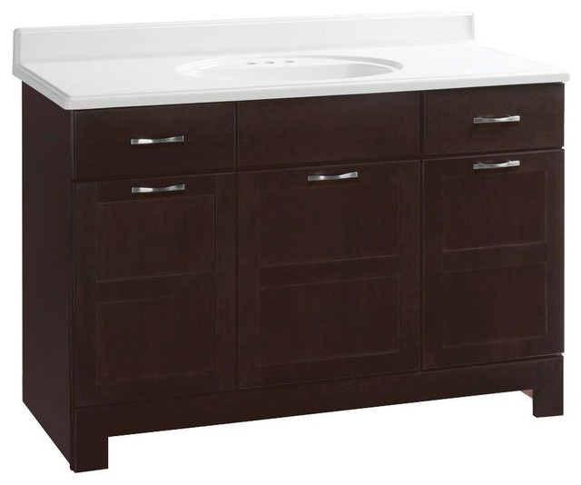 Glacier Bay Cabinets Casual 48 in. W x 21 in. D x 33-1/2 in. H Vanity Cabinet - Contemporary ...