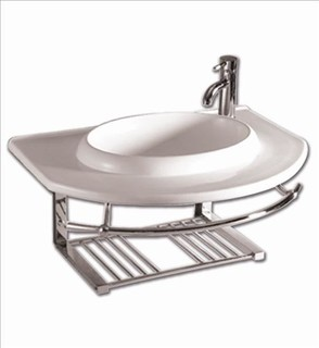 Whitehaus Whkn1124 Isabella Bathroom Wall Mount Sink Unit ...