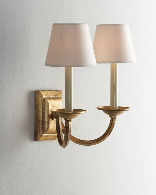 Double Light Wall Sconces : VISUAL COMFORT Double Arm