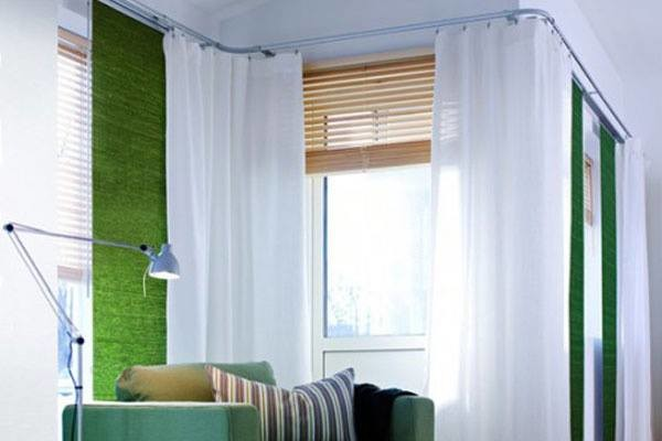 Corner Window Fashions-Bendable Curtain Rod - Modern - Curtain Rods ...