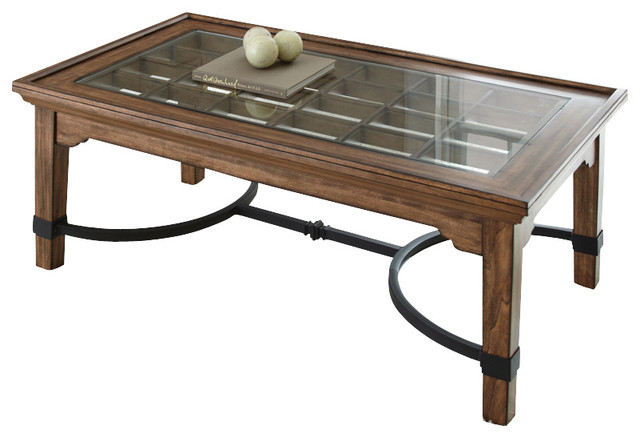 Steve Silver Levante 3 Piece Coffee Table Set With Glass Insert Traditional Coffee Table