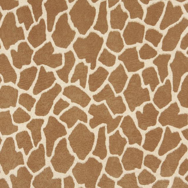 E406 Giraffe Animal Print Microfiber Fabric Contemporary Upholstery Fabri