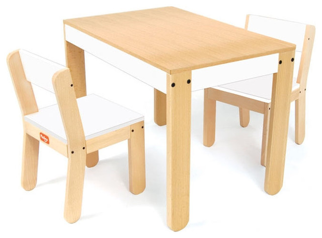Pkolino Little Ones Table And Chair Set In White