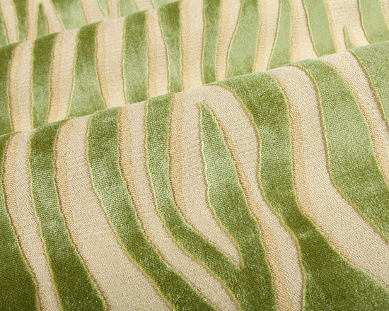 Tigris Upholstery Fabric in Malay - Tigris Animal Print Upholstery Fabric Online in Malay Green & Beige. Beautiful tiger stripes on a beige background perfect for upholstering furniture.