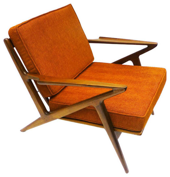 Palm springs lounge chair in electric orange modern for Chaise longue orange