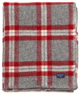 Faribault Woolen Mills Red Plaid Throw Blanket