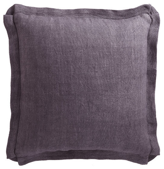 Large Square Linen Pillow - Traditional - Decorative Pillows - by Wisteria